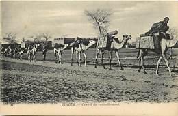 Pays Div : Ref M278- Zinder - Chameaux - Convoi De Ravitaillement  -carte Bon Etat - - Niger