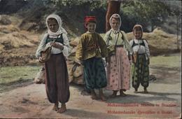 CPA Bosnie Herzégovine Mohamedanische Mädeln In Bosnien Mohamedanske Djevojcice U Bosni Feldpost Trebinje CAD K U K - Bosnia And Herzegovina