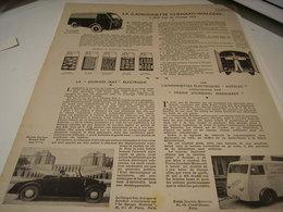 ANCIENNE PUBLICITE CAMIONETTE CHENARD WALCKER 1941 - Cars
