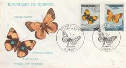 DJIBOUTI FDC PAPILLONS 1978 - Djibouti (1977-...)