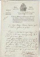 PARIS : Lettre De L'agent Militaire Du Ministre De La Marine Pour Renseignements Sur Un Soldat Enrôlé - TTB Vignette. - Documentos Históricos