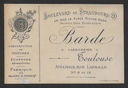 Toulouse - Barde Carrossier - Visitekaartjes