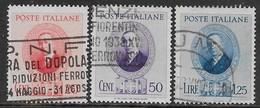 Italia Italy 1938 Regno Marconi Sa N.436-438 Completa US - 1900-44 Vittorio Emanuele III