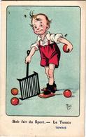 1 Postcard Bob Fait Du Sport Le Tennis  Signed  MICH  N°9 Out Of 10   7069 - Mich
