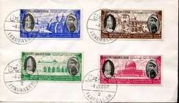 36916 Jordan, Cover With 4 Stamps And Postmark Jerusalem 1964 For Meeting Pope's - Jordan