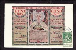CPA GAND EXPOSITION UNIVERSELLE 1913 FLANDRES ESCAUT Publicité Art Et Industrie Affiche - Gent