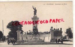 33- CAUDERAN - MONUMENT AUX MORTS - GIRONDE - Sonstige Gemeinden