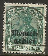 Memel (Klaipeda) - 1920 Germania Overprint 5pf Used   Mi 1  Sc 1 - Memel (1920-1924)