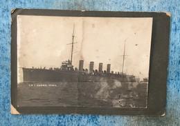 "PHOTO   SHIP  BOAT   SCHIFFE  IN SMYRNA   SMYRNE  TURKEY  "" ADMIRAL SPAUN ""  1911. - Boats"