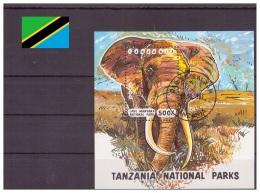 Tanzanie 1993 - Oblitéré - Eléphants - Michel Nr. Bloc 228 (tan090) - Tanzania (1964-...)