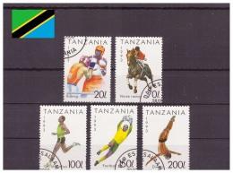 Tanzanie 1993 - Oblitéré - Sports - Michel Nr. 1467 1469-1472 (tan236) - Tanzania (1964-...)