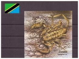Tanzanie 1994 - Oblitéré - Araignées - Michel Nr. Bloc 255 (tan126) - Tanzania (1964-...)