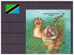 Tanzanie 1994 - Oblitéré - Félins - Michel Nr. Bloc 251 (tan098) - Tanzania (1964-...)