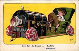 1 Postcard Bob Fait Du Sport L'Auto Motoring    Signed  MICH  N°8 Out Of 10   7068 - Mich