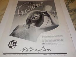 ANCIENNE PUBLICITE CROISIERE BATEAU VOYAGE ITALIAN LINE 1939 - Boats