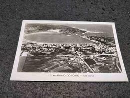ANTIQUE PHOTO POSTCARD PORTUGAL S. MARTINHO DO PORTO - VISTA AEREA - CIRCULATED 1961 - Leiria