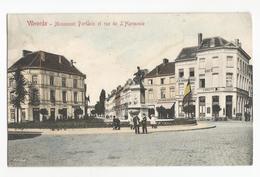 Vilvoorde Harmoniestraat Portaels Standbeeld Oude Postkaart Grand Hoôtel Café Smuyts Carte Postale Ancienne - Vilvoorde