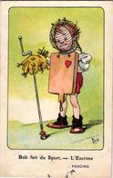 1 Postcard Bob Fait Du Sport  L'  Escrime   Fencing    Signed  MICH  N°1  Out Of 10   7061 - Mich
