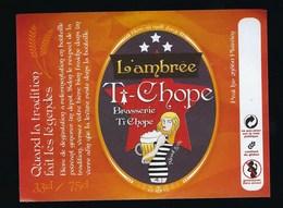 Etiquette Biere Ambrée T Chope 33cl / 75cl  Brasserie Ti Chope Plouvien 29 - Beer