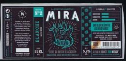 Etiquette Biere Blanche Recette N°2 Mira 5,2% 33cl  Brasserie  Mira La Teste De Buch 33 - Beer