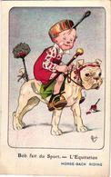 1 Postcard Bob Fait Du Sport    Horse-Back Riding  L'Equitation   Signed  MICH  N°7  Out Of 10   7067 - Mich