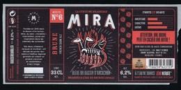 Etiquette Biere Brune Recette N°6 Mira 6,2% 33cl  Brasserie  Mira La Teste De Buch 33 - Beer
