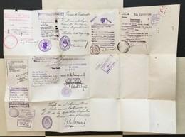 PASSPORT   REISEPASS  PASSAPORTO PASSEPORT DIPLOMATIQUE  1936.KINDOM OF YUGOSLAVIA  VISA TO : ARGENTINA , HUNGARY ,UK - Historische Dokumente