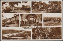 Multiview, Goathland, Yorkshire, 1935 - Valentine's RP Postcard - England