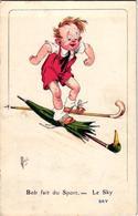 1 Postcard Bob Fait Du Sport   Le Ski   Sky    Signed  MICH  N°4  Out Of 10   7064 - Mich