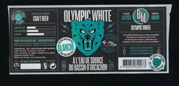 """Etiquette Biere Blanche Olympic White Mira 4,2% 25cl  Brasserie  Mira La Teste De Buch 33 """"ours"""" - Beer"""