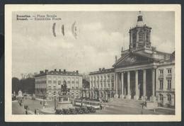+++ CPA - BRUSSEL  BRUXELLES - Place Royale - Tram  // - Marktpleinen, Pleinen