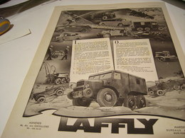 ANCIENNE PUBLICITE CAMION LAFFLY 1941 - Trucks