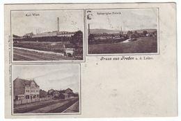Freden An Der Leine - Gelaufen 1910 - Kaliwerk, Bahnhof Und Spiegelglasfabrik - Hildesheim