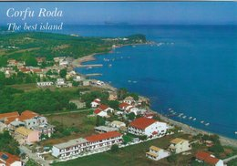 Greece. Corfu - Roda.  Card Sent To Denmark.   # 07812 - Greece