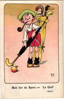 1 Postcard Bob Fait Du Sport   GOLF Le Golf    Signed  MICH  N°3  Out Of 10   7063 - Mich