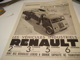 ANCIENNE PUBLICITE VEHICULES INDUSTRIELS  RENAULT 1941 - Camions