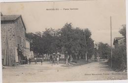 Cpa MANDELIEU- Place Centrale-maison-cheval-belle Animation-arbres - Autres Communes