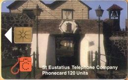 Antilles (Neth) - St. Eustatius, Eutel, EUS-E-09, Portal, 120 U, 5.000ex, 1998, Used As Scan - Antilles (Netherlands)