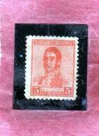ARGENTINA 1916 JOSE DE SAN MARTIN CENT. 5c MLH - Nuovi