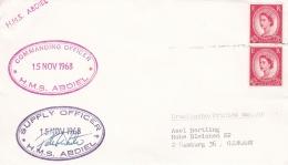 British Minelayer HMS Abdiel (N21) P/m Without Postmark 1968 (G87-11) - Militaria