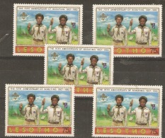Lesotho    1982   SG 478  Scouting  X  5   Unmounted Mint - Lesotho (1966-...)
