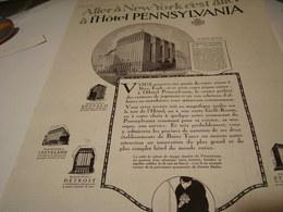 ANCIENNE PUBLICITE HOTEL PENNSYLVANIA NEW YORK - Pubblicitari