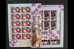 2011  Royal Wedding Set, SG 1109/11, Sheetlets Of 10 Stamps, NHM (3 Sheetlets) For More Images, Please Visit Http://www. - Ascension