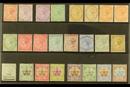 1865-1910 OLD TIME MINT SELECTION  Presented On A Stock Card. Includes 1865-1903 CC Wmk P14 1d & 6d, P 14 X12½ 6d & 1s,  - Bermuda