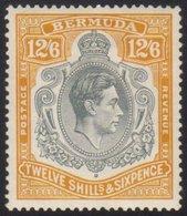 1938  12s 6d Grey And Brownish Orange SG 120a, Fine Mint, Usual Streaky Gum.  For More Images, Please Visit Http://www.s - Bermuda