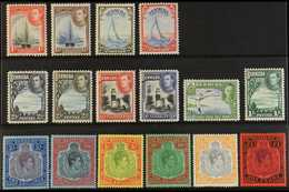 """1938-52  Definitive """"Basic"""" Set Of All Values, SG 110/21d, Very Fine Mint (16 Stamps) For More Images, Please Visit Http - Bermuda"""
