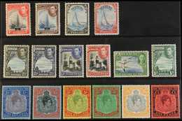 """1938-52  Definitive """"Basic"""" Set Of All Values, SG 110/21b, 2s6d To £1 Are All Perf 14. Never Hinged Mint (16 Stamps) For - Bermuda"""