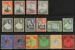 "1938-53  Pictorial & Portrait Definitive ""Basic"" Set, SG 110/21d, Fine Used (16 Stamps) For More Images, Please Visit Ht - Bermuda"