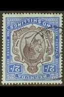 KGV RARE WATERMARK ERROR  1918-22 (wmk Mult Crown CA) KGV 2s Purple And Blue/blue With WATERMARK REVERSED, SG 51bx, Very - Bermuda