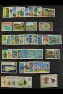 1969-76 COMPLETE NEVER HINGED MINT COLLECTION  Includes 1968 Overprints On Seychelles Set, 1968-70 Marine Life Complete  - British Indian Ocean Territory (BIOT)
